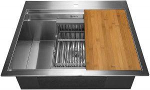 AKDY Drop-In TopMount Kitchen Sink- Deluxe Single Bowl