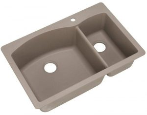 Blanco 441282 DIAMOND SILGRANIT 33 Double Bowl Undermount or Drop-In Kitchen Sink, 1 Hole, Truffle