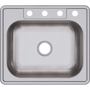 Dayton Single Bowl Top Mount Stainless Steel Sink | 13 Best Drop in Kitchen Sink (Reviews & Buying Guide 2019)