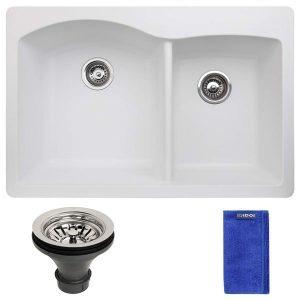 Double Bowl Top Mount Granite Composite kitchen sink
