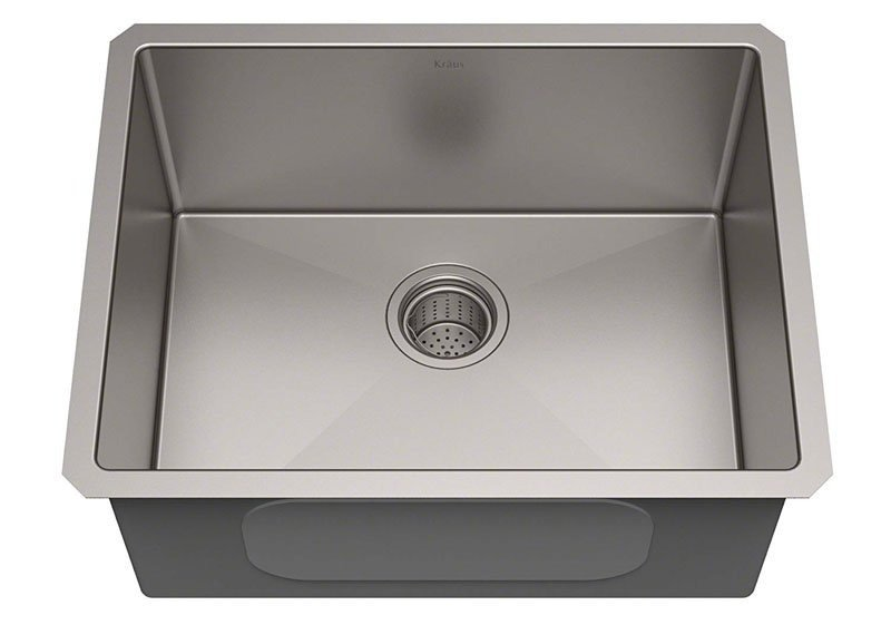 KRAUS Standart PRO 23 inch Undermount Single Bowl Stainless Steel Kitchen Sink KHU101 23 | 6 Best Stainless Scratch Resistant Kitchen Sink 2020 Reviews
