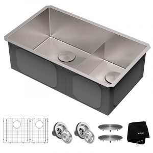 Kraus KHU103-32 Double Bowl Kitchen Sink
