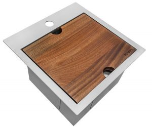 Ruvati 15 x 15Drop-in Topmount Bar Prep RV Sink 16 Gauge Stainless Steel - RVH8215