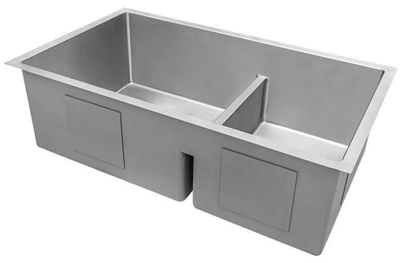 Ruvati 28 inch Low Divide Double Bowl Undermount Stainless Steel Kitchen Sink RVH7255 | 6 Best Stainless Scratch Resistant Kitchen Sink 2020 Reviews