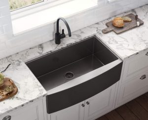 Ruvati Gunmetal Black Kitchen Sink RVH9733BL