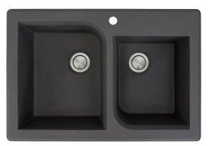 Transolid RTDO3322 06 Black Drop in kitchen sink | 13 Best Drop in Kitchen Sink (Reviews & Buying Guide 2019)