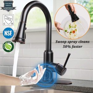 SOOSI Motion Sensor 3 Hole Stainless Steel Kitchen Faucet | 11 Best Touchless Kitchen Faucet 2019 Review [Everyone Loves]