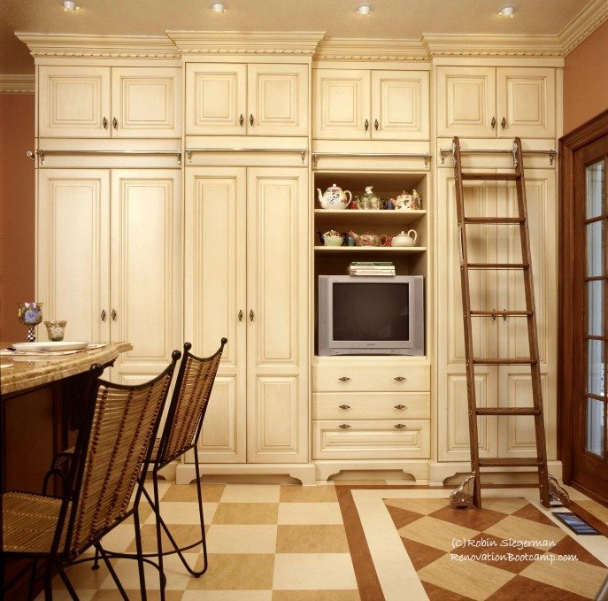 Victorian pantry with rolling ladder | 21 Best Kitchen Organization Ideas You Need to Read This Year