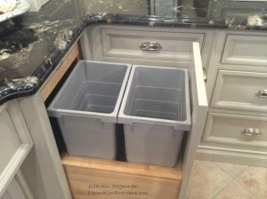 double pull out trash bins | 21 Best Kitchen Organization Ideas You Need to Read This Year