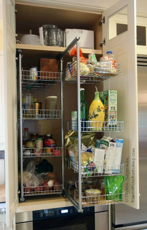 pull out pantry shelves | 21 Best Kitchen Organization Ideas You Need to Read This Year