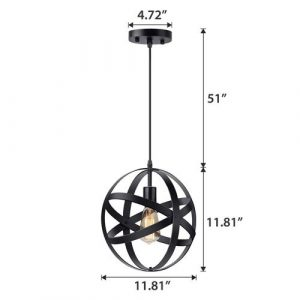 KingSo Industrial Metal Pendant Light