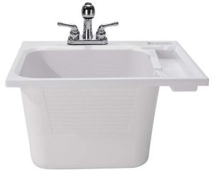 CASHEL Drop-In Sink - Essential Kit, Utility and Laundry Sink, White, 1970-20-01