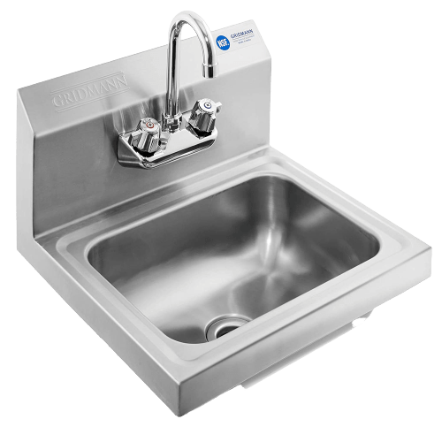 Gridmann_Commercial_NSF_Stainless_Steel_Sink