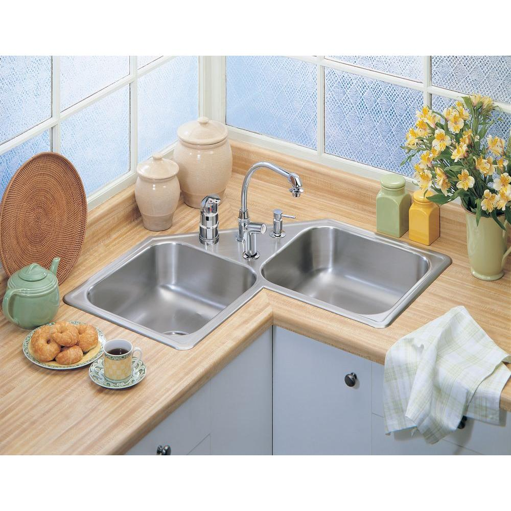 under counter Corner Kitchen Sinks