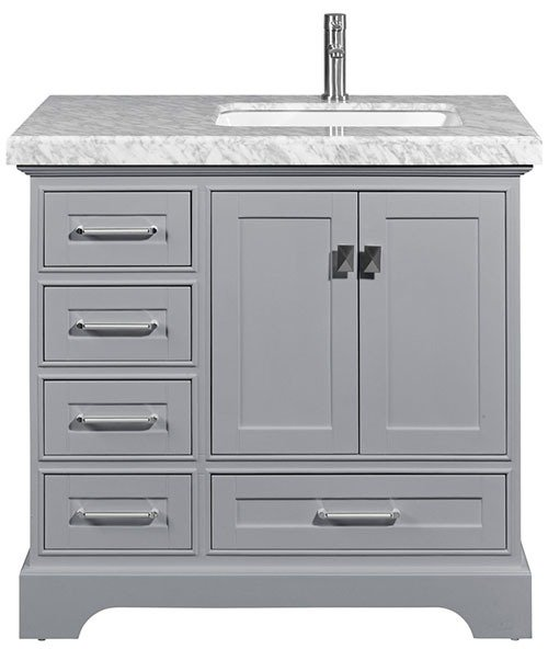 Melbourne 36 Grey Right Sink | How to Choose Sink for your Kitchen (Ultimate Guide 2020)