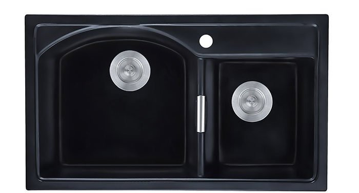Modern 32 Granite Kitchen Sink Drop In Sink Double Bowl Kitchen Sink Quartz Kitchen Sink Matte Black | How to Choose Sink for your Kitchen (Ultimate Guide 2020)