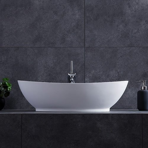 Modern Oval Stone Resin Deep Vessel Bathroom Sink | How to Choose Sink for your Kitchen (Ultimate Guide 2020)