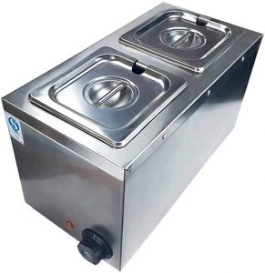 Li Bai Chocolate Tempering Machine Melting Pot Melts Commercial Electric Auto Heater Liquid Warmer Stainless Steel 4L Capacity 2 Tanks