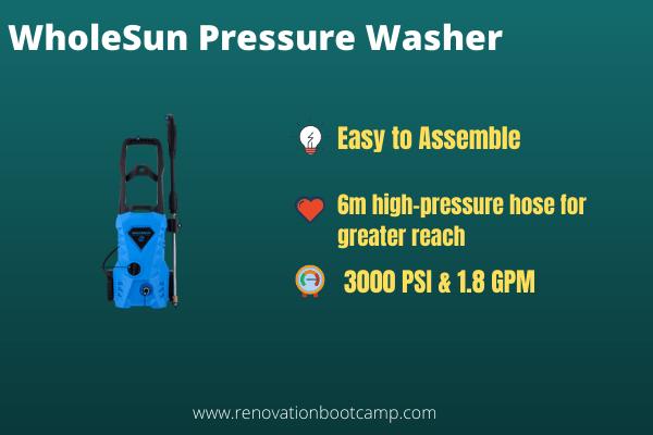 WholeSun Pressure Washer