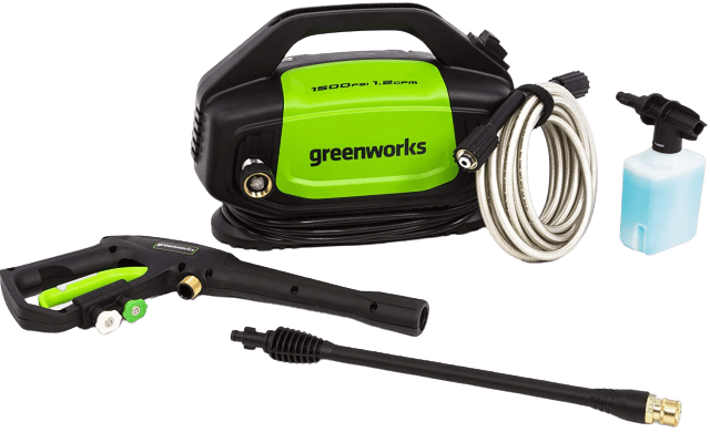 Greenworks GPW1502 1500 PSI 1.2 GPM Electric Pressure Washer removebg preview | Best 1500 PSI Electric Pressure Washer Reviews 2020