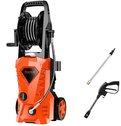 Suyncll Pressure Washer 3000PSI Electric Power Washer with Hose Reel