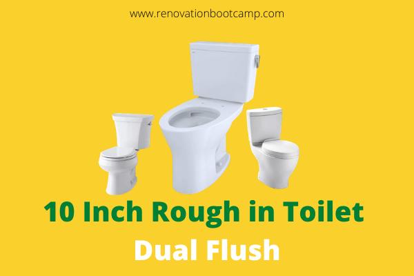 10 Inch Rough in Toilet Dual Flush