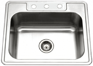 Houzer  Topmount Stainless Steel  Single Bowl Kitchen Sink
