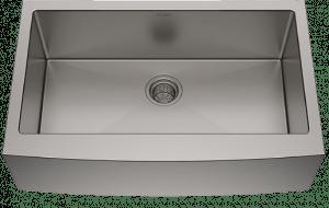 Kraus KHF200-33 Standart PRO Stainless Steel Sink 33 inch Farmhouse Apron Single Bowl 16 gauge