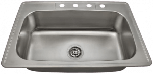 US1030T 20 Gauge Topmount Stainless Steel Kitchen Sink