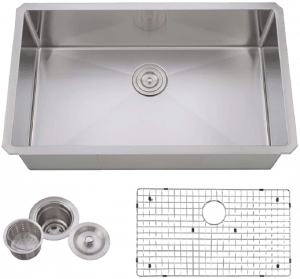 VCCUCINE Farmhouse Stainless Steel 18 Gauge Undermount Kitchen Sink