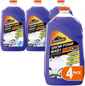 Armor, All Car Wash Snow Foam Formula, Cleaning Concentrate for Cars, Truck, Motorcycle, Bottles, 50 Fl Oz, Pack of 4, 19141-4PK