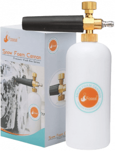 """Foseal Snow Foam Lance Jet Wash Pressure Car Washer Foam Cannon 1L Bottle Adjustable Thick/Watery Soap Foam, with 1/4"""" Quick Release"""